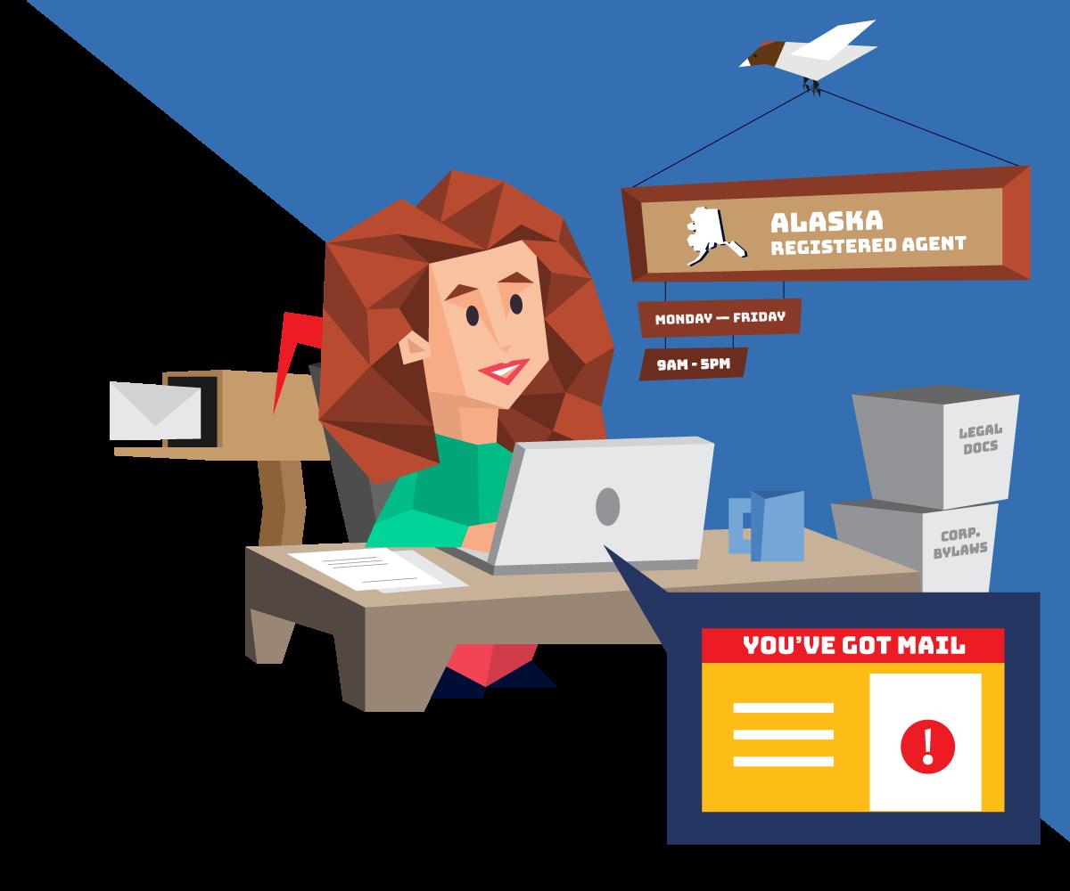 Instant registered agent service in Alaska with Northwest Registered Agent