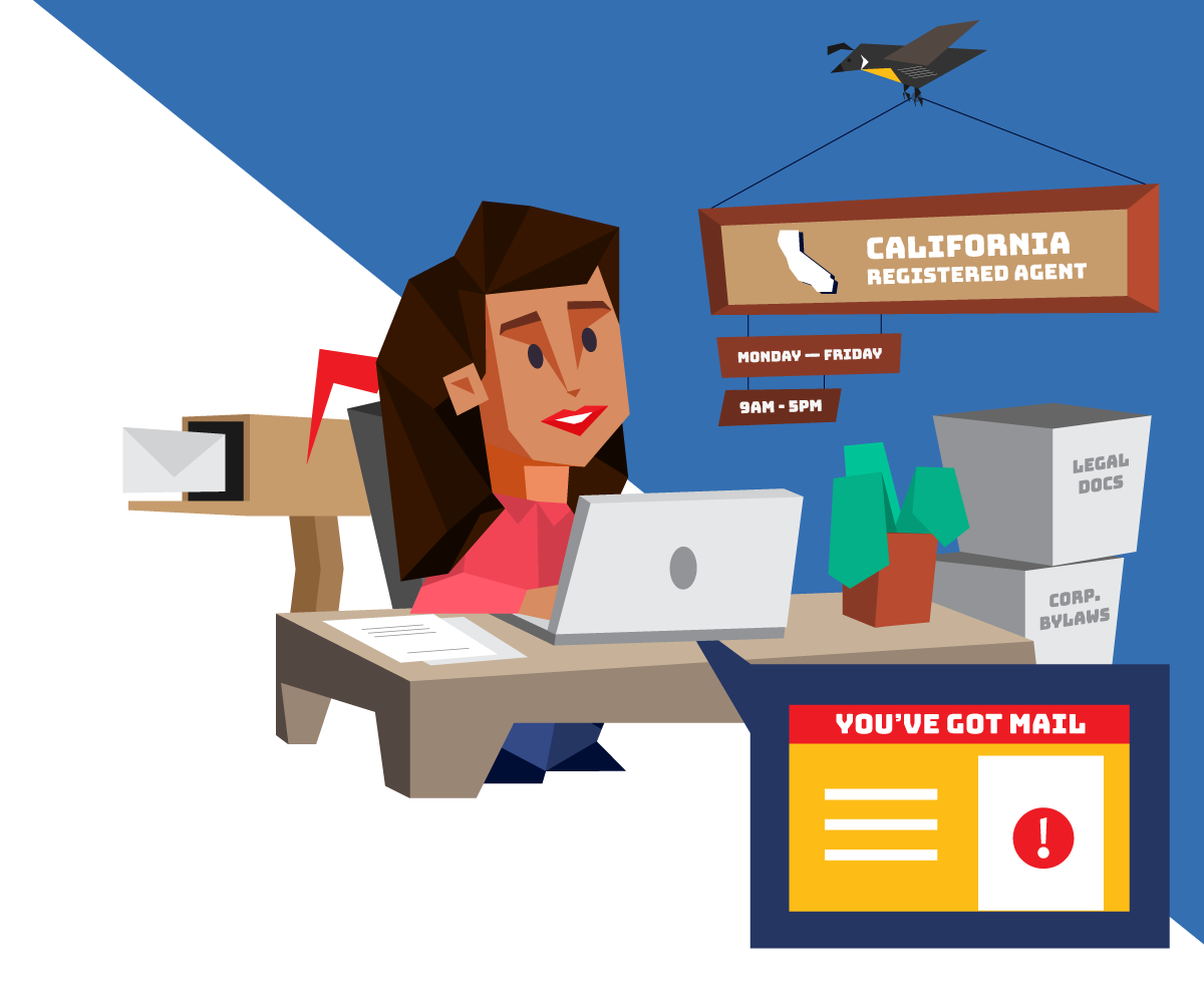 Instant registered agent service in California with Northwest Registered Agent