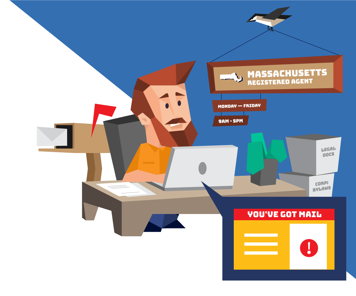 Instant registered agent service in Massachusetts with Northwest Registered Agent
