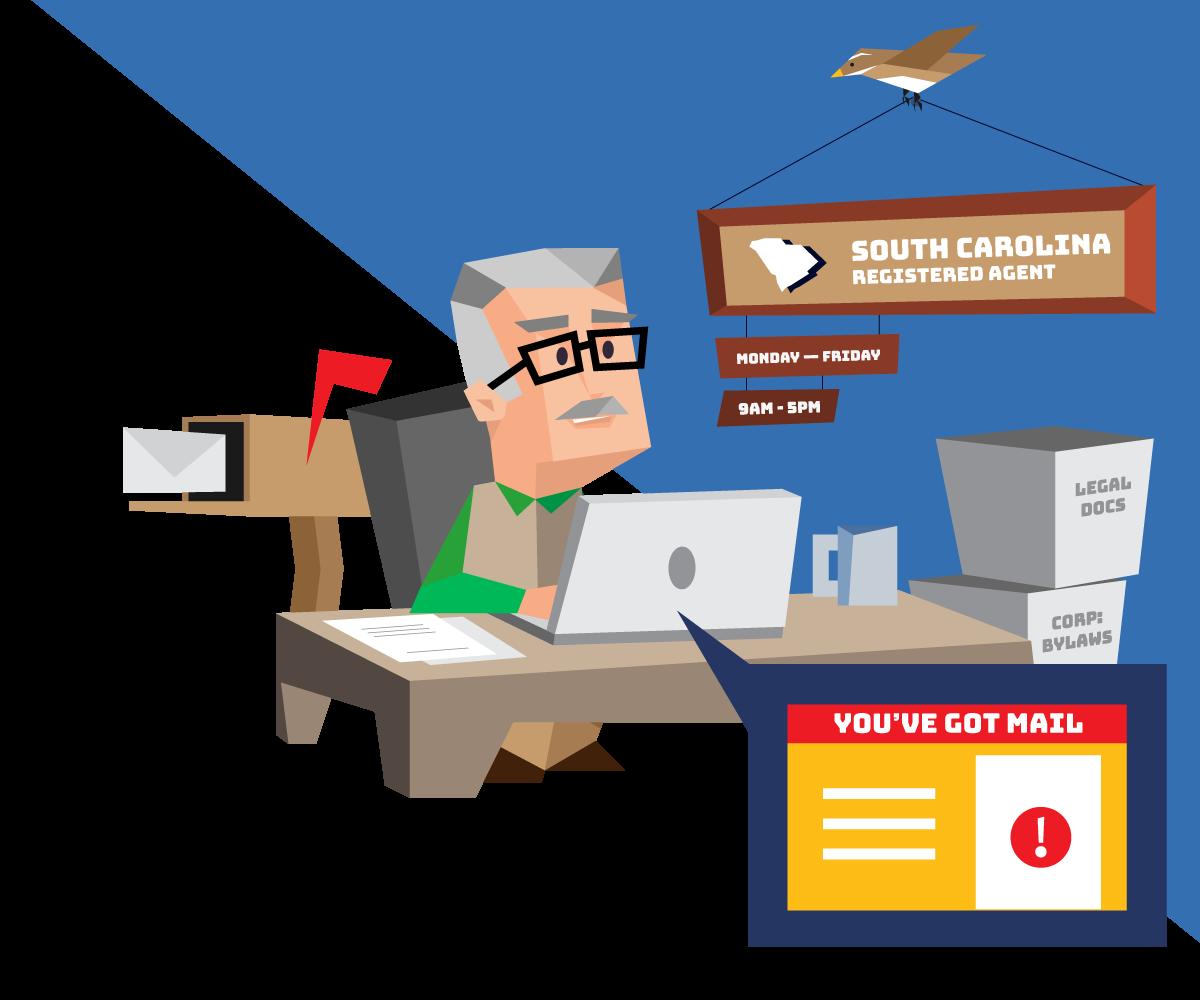 Instant registered agent service in South Carolina with Northwest Registered Agent
