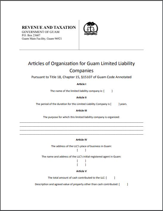 Guam Articles of Organization
