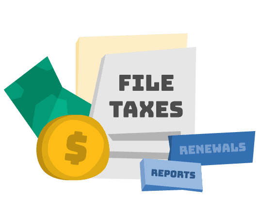 File Reports and Taxes